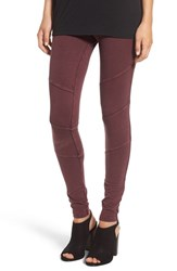 Women's Bp. Ribbed Moto Leggings Burgundy Stem