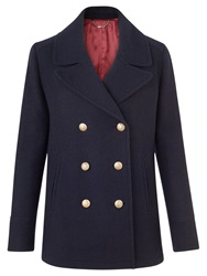 Jigsaw Wool Pea Coat Navy