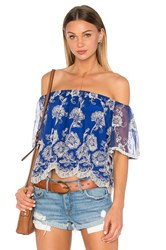 Lovers Friends Sunbathe Top Blue