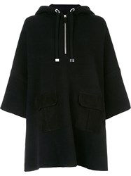 Ralph Lauren 'Hooded Anorak' Blouse Black