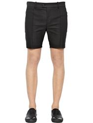 Diesel Black Gold Stretch Cotton Gabardine Shorts Black