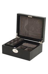 Wolf '1834 Collection Iberica' Jewelry Case Black Lizard