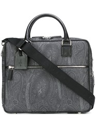 Etro 'Amoebae' Briefcase Grey