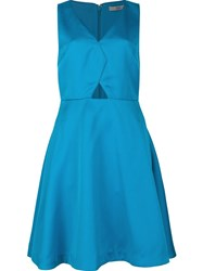 Zac Posen Cut Out Detail Dress Blue