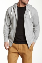 Shine Basic Hooded Zip Front Sweater Gray