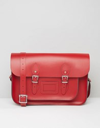 Leather Satchel Company 14 Oxblood Patent Red