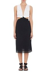 Thakoon Lace And Eyelet Dress Black Size 4 Us
