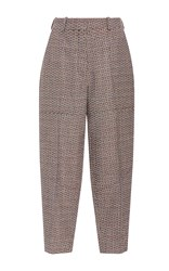 Sonia Rykiel Tweed High Waist Carrot Pant Dark Grey