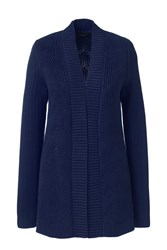 Lands' End Drifter Mixed Stitch Cardigan Blue