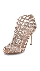Sergio Rossi Mermaid Cage Booties Nude