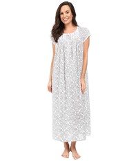 Eileen West Cap Sleeve Ballet Nightgown White Grey Women's Pajama