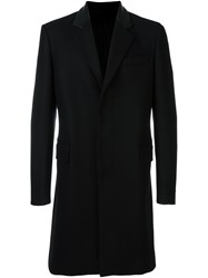 Les Hommes Single Breasted Coat Black