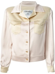Chanel Vintage Classic Skirt Suit Pink And Purple