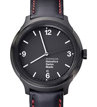Mondaine Mh1.B1221.Lb Helvetica No1 New York Edition Leather Sapphire