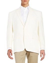 Lauren Ralph Lauren Two Button Linen Jacket Offwhite