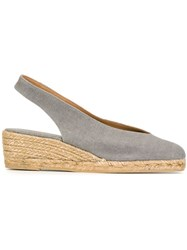 Castaner Castaner Sling Back Closed Toe Espadrilles Grey
