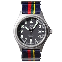 Mwc G10bh Silver Military Watch Royal Marines Nato Strap