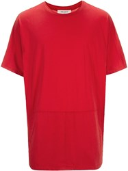 One Stroke Dolman Fit T Shirt Red