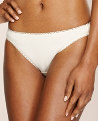 Charter Club Pretty Cotton Bikini Ivory