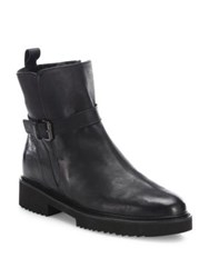 Vince Claudia Leather And Shearling Booties Black