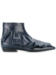 J.W.Anderson Ruffled Boots Blue