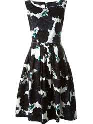 Samantha Sung Flower Print Belted Dress White