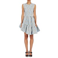 Jourden Women's Floral Fit And Flare Dress Blue