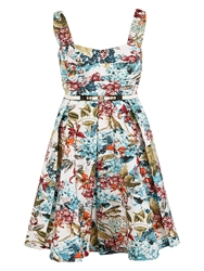 Chesca Floral Print Sateen Dress Multi Coloured