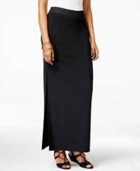 Inc International Concepts Side Slit Maxi Skirt Only At Macy's Deep Black