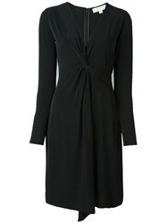 Michael Michael Kors Wrap Detail V Neck Dress Black