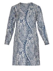 La Doublej Editions Bandana Silk Long Sleeved Dress