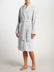 John Lewis Damask Embossed Robe Grey