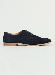 Topman Navy Suede Gibson Shoes Blue