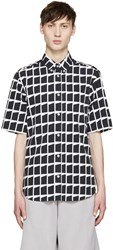 Mcq By Alexander Mcqueen Black And White Shields Shirt