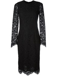 Marco Bologna Long Sleeve Lace Dress Black