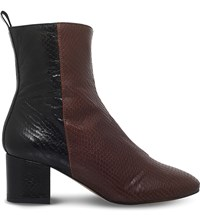 Kg By Kurt Geiger Snooze Leather Calf Boot Brown
