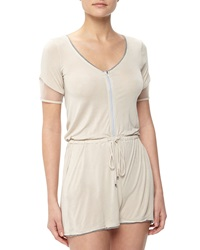 Stella And Jamie Nebular Drawstring Jumpsuit Silver Cloud