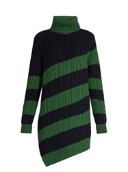 Marco De Vincenzo Oversized Striped Wool Sweater Blue Multi
