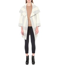 Burberry Whorlton Wool And Cashmere Blend Coat Natural White