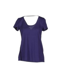Pierantonio Gaspari Short Sleeve T Shirts Dark Purple
