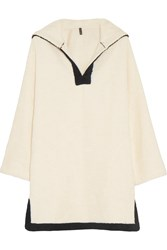 Lisa Marie Fernandez Hooded Cotton Terry Beach Tunic White