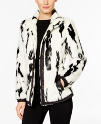 Inc International Concepts Faux Fur Jacket Only At Macy's Washed White