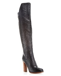 Vince Dempsey Over The Knee High Heel Boots Black