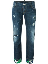 Dsquared2 'Sexy Rolled Up Flare' Jeans Blue