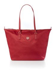 Tommy Hilfiger Poppy Red Large Tote Bag Red