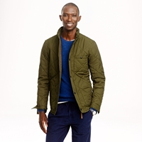 J.Crew Tall Broadmoor Quilted Jacket Vintage Avocado