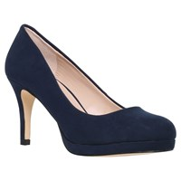 Carvela Kiley Platform Stiletto Court Shoes Navy Suedette