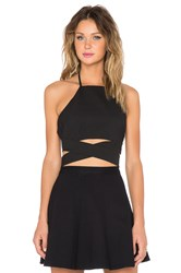 Lovers Friends X Revolve Double Cross Crop Top Black