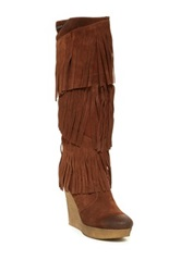 Diesel Hazard Cletus Fringe Boot Red