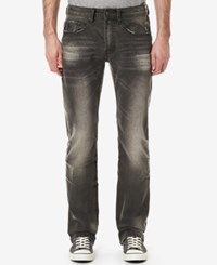 Buffalo David Bitton Men's King X Slim Fit Bootcut Jeans Worn Out Grey